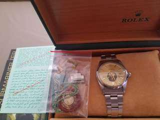 ROLEX DATE  GOLD FILLED ARAB UAE CREST LOGO MILITARY RARE  正品保存好,上行加1千罕有靚,全原裝,歡迎專家驗證