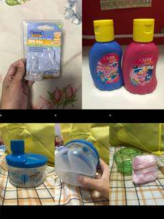 Baby wash/formula milk container/ powder container with puff
