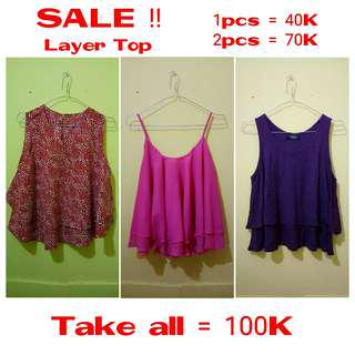 SALE!! LAYER TOP