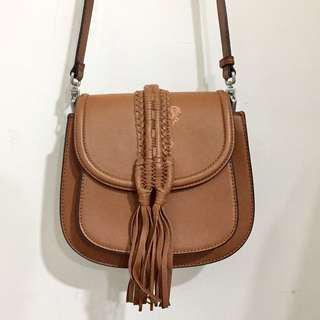 Charles & Keith Sling Crossbody Bag (Brown)