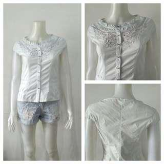 Korean Trendy Floral Button Down Top