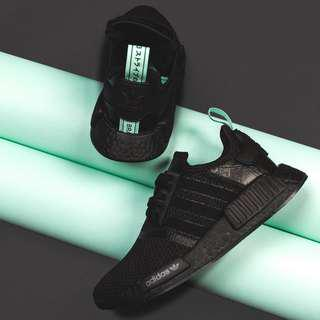 "🚚 Adidas NMD R1 Black/Mint ""Tiffany"" (W)"