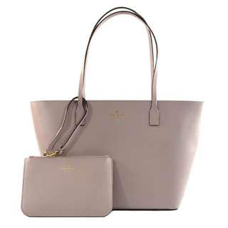 BNWT Kate Spade Small Harmony Leather Tote with Matching Wristlet Pouch