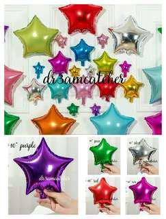 10 inch foil star balloon
