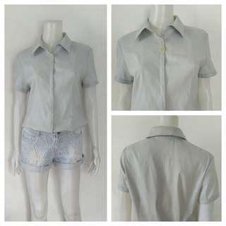 Lida Fashion Light Blue Polo Top