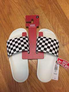 Brand New VANS checkered slides