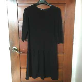 Promod Black 1920s Dress with Mid-length Sleeves