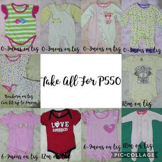Assorted Clothes for Baby Girl