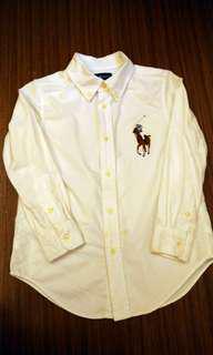 🚚 Polo 白色牛津襯衫