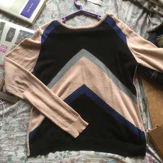 Topshop Geometric Sweater