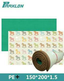 PROMOTION!! Waterproof playmat / crawling mat. Parklon PE Plus Mat (design poney) - pre-order