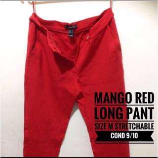 Mango Red Long Pant
