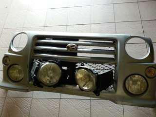 Bumper depan rs skali hid lamp.bumper depan rs bonnet depan l9rs