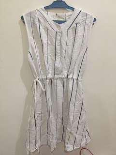 Blue and White Stripes Dress