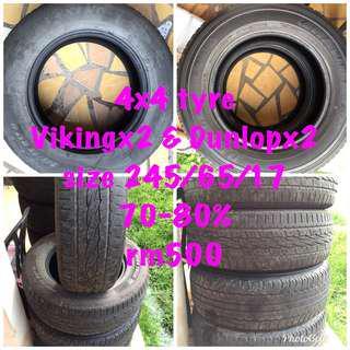 Tyre 4x4 245/65/17