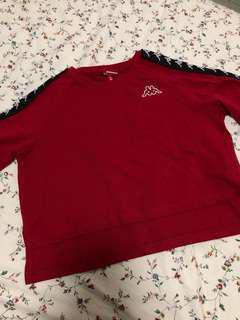 Kappa maroon logo crop high low top