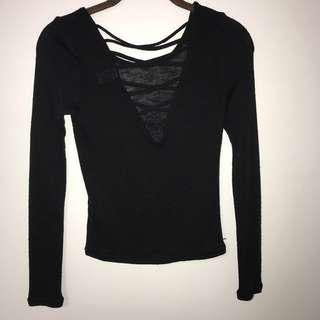 Criss-cross Long Sleeve Top
