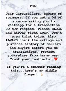Scammers. PSA