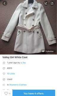 Size 6 Valley girl coat