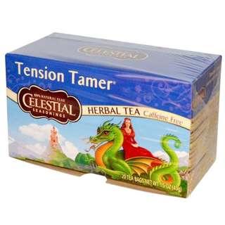 Celestial Seasonings, Herbal Tea, Tension Tamer, Caffeine Free, 20 Tea Bags, 1.5 oz (43 g)