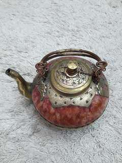 Antique Marble Teapot