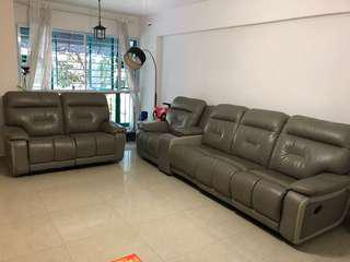 4+2 or 3+3 Sofa Set with recliner