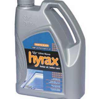 ENGINE OIL HYRAX HIGH PERFORMANCE 10W-30 / MINYAK PELINCIR KENDERAAN HYRAX OIL