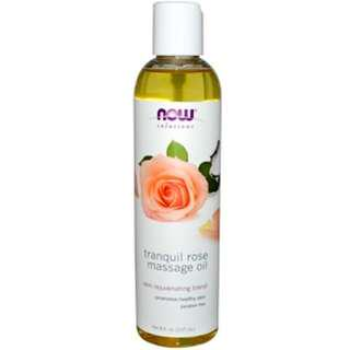 Tranquil Rose Massage Oil, Now Foods (237 ml)