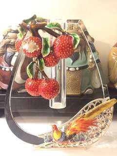 琺瑯彩水晶玻璃花瓶