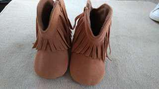 Fringed baby boots