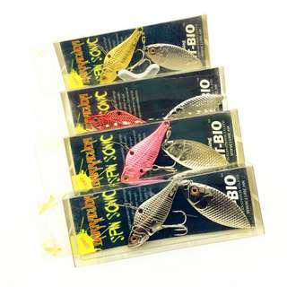 GT-BIO Metal Lure Jig Spinner Fishing Spoon 4 Color 20g VIB Double Fish