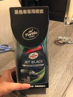 Turtle wax jet black spray wax with microfibre cloth