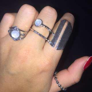 Lovisa Moonstone Ring set