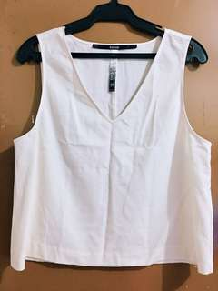 Sleeveless Top (Dirty White)