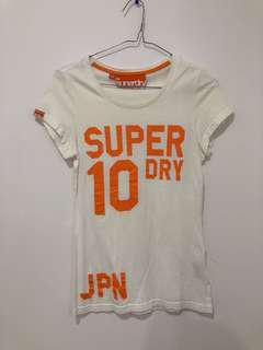 White Superdry t-shirt