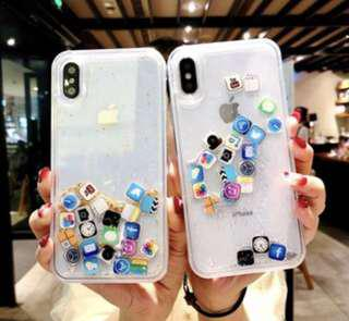 iPhone 6 transparent glitter new