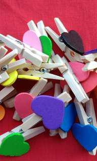 Jepit kayu/jepit Polaroit love
