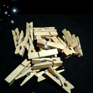 Jepit kayu / jepit Polaroit polos