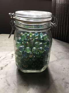 Old school glass marbles