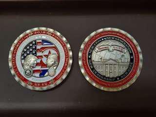 Trump, Kim peacetalk coin