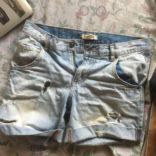 Tattered/Ripped Denim Shorts