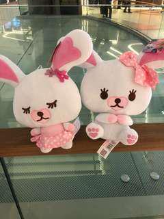 Twin rabbits plush
