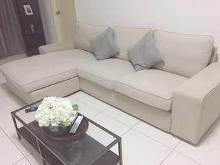 Lshape sofa beige