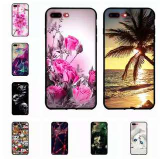 Iphone Silicon soft case black frame