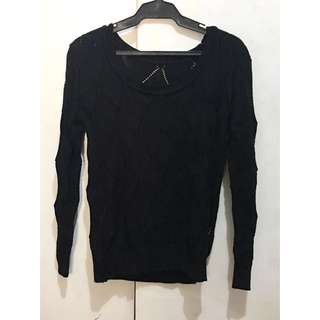 Knitted Sweater (Black)