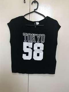 Tokyo Black Tank Top