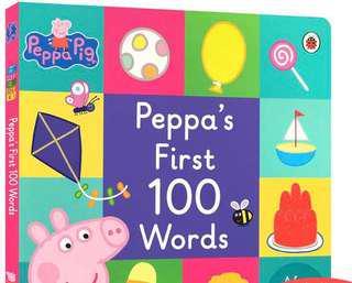 Peppa pig立體書Peppa's first 100 words