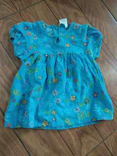 Dress Bayi biru