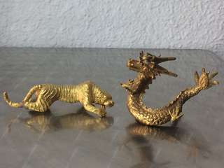 Tiger & dragon in harmony! (Solid brass)