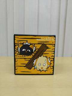 全新 得意造型 桌上文具(萬字夾)擺設 小黃狗 連盒
